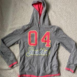 Justice girls hoodie sz 16